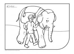 Indian Elephant Colouring In Picture