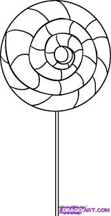 Swirl Lollipop Coloring Page