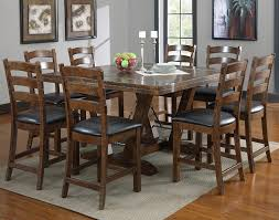 Distressed Square Dining Room Table Seats 8 For Rustic Kitchen