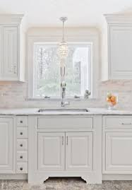chandelier sink traditional kitchen b and g cabinet