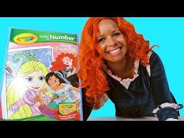 Disney Princess Merida Giant Color By Numbers Coloring Book