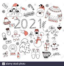 Items Where Year Is 2021 2021 New Year Set New Year Set Of Doodles