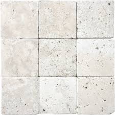 shop 9 pack chiaro tumbled marble wall tile common