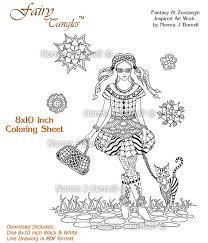 Fairy Tangle Art Coloring Books