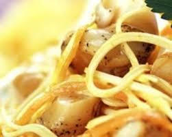 pates aux noix de jacques recette délice de pâtes aux st jacques