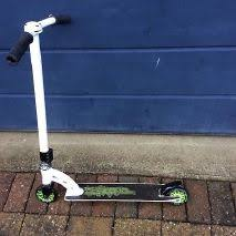 White MADD Gear MGP Pro Stunt Scooter Used