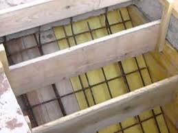 mise en place des coffrages pour la réalisation d un escalier