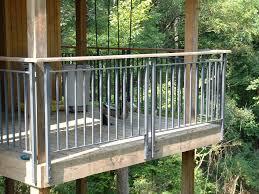 Horizontal Deck Railing Ideas by Face Mount Balcony Railing Aluminum Deck Railings 4 Cityscape