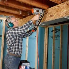 Installing Drywall On Ceiling In Basement by Basement Finishing Tips Basements Oriented Strand Board And