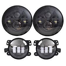 dot approved 7 black daymaker led headlights 4