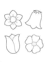 Cheerful Small Flower Coloring Pages Spring Flowers Sheet
