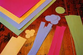 Kidscrafts2 Materials List Colorful Construction Paper Scissors