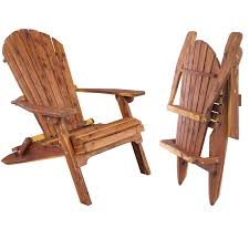amish handcrafted cedar folding adirondack chair
