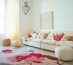 Black White Red Rooms Pink Cushions Rug