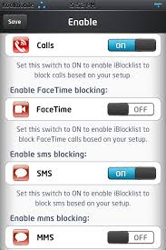 iBlacklist 4 3 Block Calls SMS Telemarketing Unwanted Call