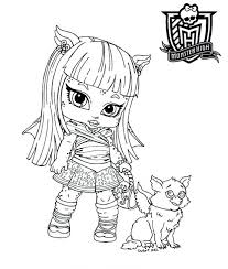 Monster High Coloring Pages Printerkids All About Dolls Baby Character Free Printable Book Pdf To Print