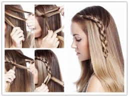 How To Make Beautiful One Sided Braid Hair Style Step By DIY Tutorial Picture Instructions 512x384