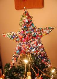 2013 Christmas Tree Topper Star For Colorful Glass