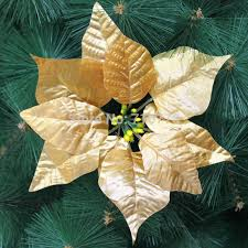 2018 20cm Silver Gold Christmas Tree Decoration Flower High Quality Xmas Artificial Poinsettia From Amanda2599 805