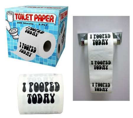 Island Dogs I Pooped Today Novelty Toilet Paper