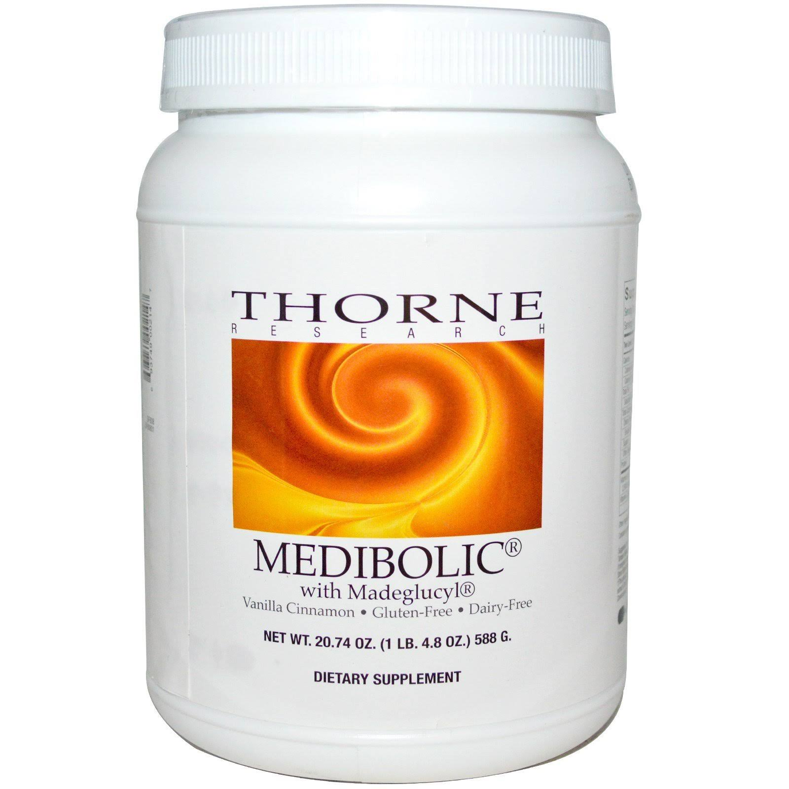Thorne Research MediBolic Dietary Supplement - Vanilla Cinnamon, 20.74oz