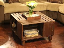 Wooden Crates Furniture 0 Wood Crate Furniture Side Table