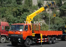 12T Telescopic Boom Truck Mounted Crane For Telecommunication ...