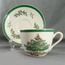 Spode Christmas Tree Mugs With Spoons by Spode Christmas Tree Cup U0026 Saucer Set S3324 V Spode Spode China