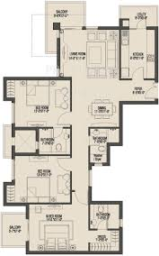 7x7 Bathroom Floor Plan by Umang Monsoon Breeze Phase 2 In Sector 78 Gurgaon Price