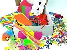 Kids Craft Box Arts And Crafts Activity Supplies Home Decor