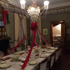 Benjamin Harrison Presidential Site Dining Room Set For The Holidays