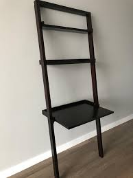 crate and barrel sloane leaning desk dark brown in near west