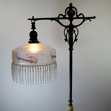 Rembrandt Floor Lamp With Table by Rembrandt Floor Lamp With Marble Base And Hand Painted Satin Shade