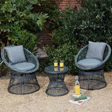This Beautiful 3 PC Rattan Wicker Bistro Set 2 Seater Grey ... Americana Wicker Bistro Table And Chairs Set Plowhearth Royalcraft Cannes Brown Rattan 3pc 2 Seater Cube Breakfast Ceylon Outdoor 3piece By Christopher Knight Home Hampton Bay Aria 3piece Balcony Patio Sirio Valentine Swivel Ellie 3 Piece Folding Fniture W Round In Dark Outdoor Cast Alinium Rattan Ding Sets Georgina With Cushions Wilko Effect
