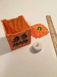 Minecraft Pumpkin Pie Banner by Minecraft Pumpkin Jack O Lantern Perler 3d Box By Pixelapocalypse