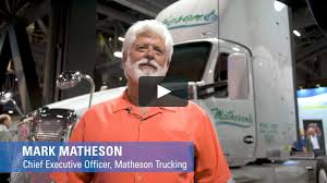100 Matheson Trucking ACT Expo 2018 Fleet Interview With On Vimeo