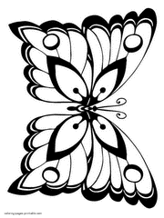 Print Free Butterfly Coloring Pages