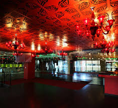 ceiling panels feature a flower petal design conga room unveils