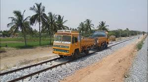 Trucks On Rails | Indian Railways | A Small Ride On Utility Vehicle ...