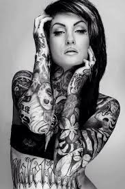 Black And White Skull Best Sleeve Tattoos