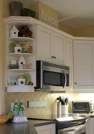Example Of Curved Corner Cabinet Shelves KitchenKitchen Shelf DecorCorner