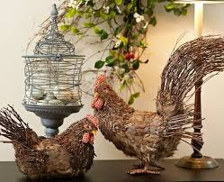 This Rooster And Hen Set Is Sure To Impress H199022 Qvc