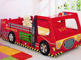Plastic Fire Truck Toddler Bed Furniture — Toddler Bed : Fun Plastic ...
