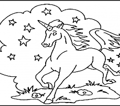 Printable Color Pages Free Unicorn Coloring For Kids Picture