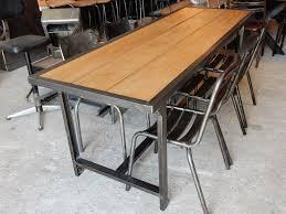 bureau design industriel table militaire fer et bois geo nancy design tables