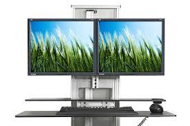 Kangaroo Standing Desk Dual Monitor by 19 Kangaroo Standing Desk Dual Monitor Kangaroo Sit Stand