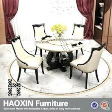 Round Marble Dining Table And Chairs For Sale