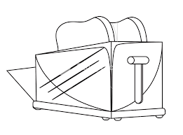 Toaster Drawing Royalty Free Stock Image