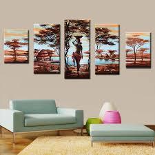 gemalt afrikanische frauen leinwand malerei für wohnzimmer dekoration ölgemälde wandkunst ungerahmt