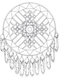 Free Online Printable Mandala Coloring Pages Expert Native American Dreamcatcher
